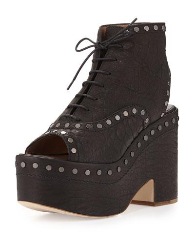 Halizee Studded Platform Boot, Black