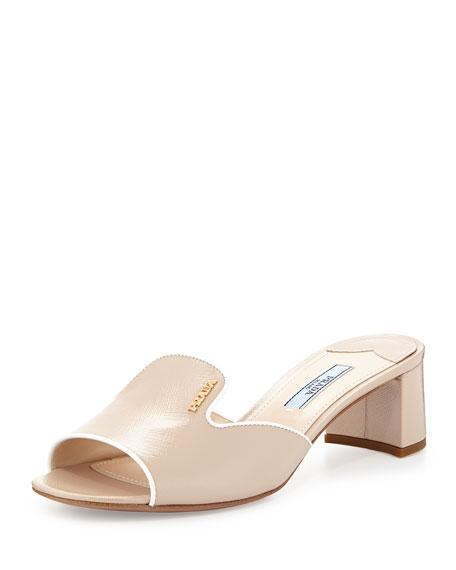 buy cheap original Prada Saffiano Patent Sandals buy cheap pick a best zpGAfz3JV1