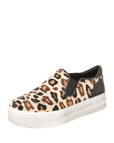 Jungle Leopard-Print Calf Hair Sneaker