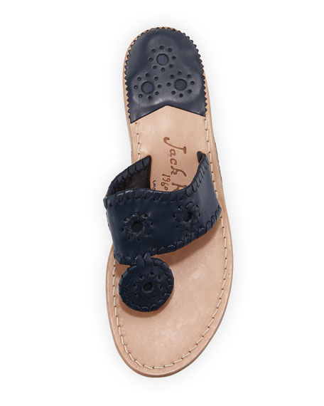 Nantucket Leather Thong Sandal, Midnight