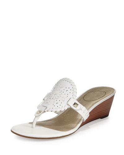 Devyn Demi-Wedge Sandal, White
