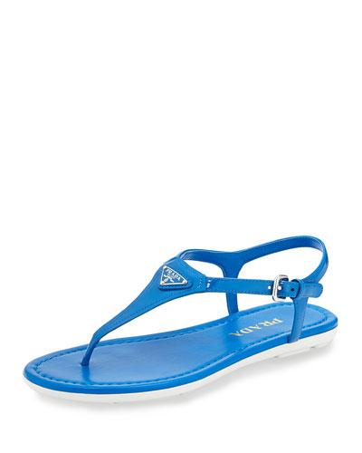 Patent Logo Thong Sandal, Marea