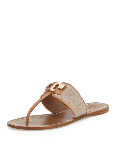 Culver One Band Leather Thong, Natural/Nude