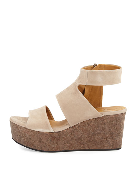 Max Platform Wedge Sandal, Nude
