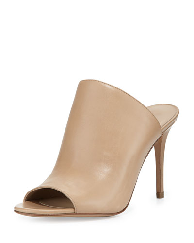 Burnett Leather Mule Pump, Toffee