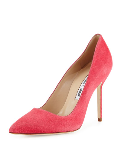 BB Suede 105mm Pump, Watermelon