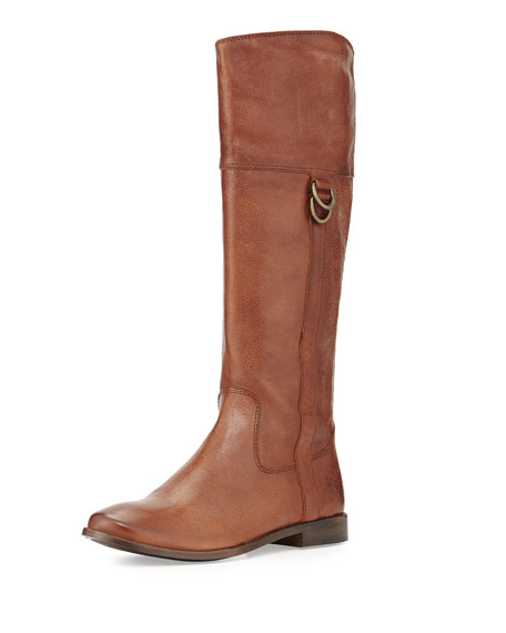 Anna D-Ring Leather Boot, Copper