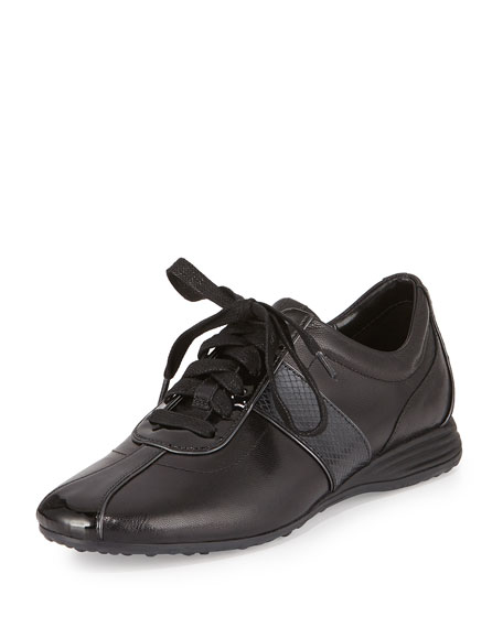 Cole Haan Bria Grand Leather Sneaker, Black