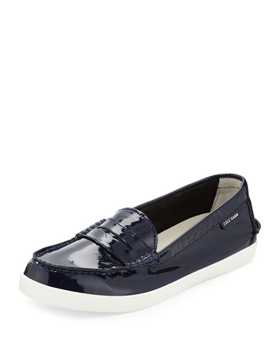 Pinch Patent Leather Loafer, Peacoat
