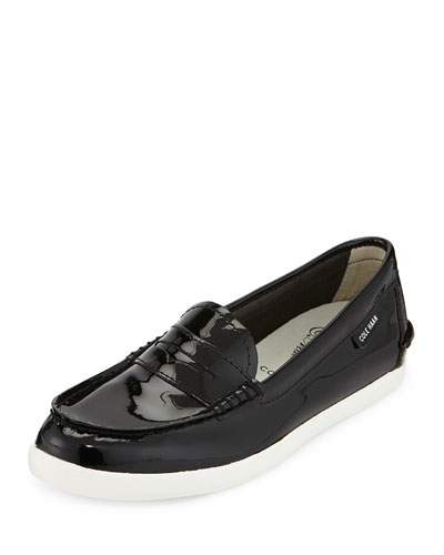 Pinch Patent Leather Loafer, Black