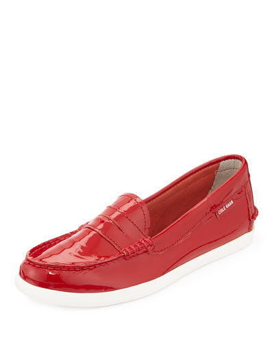 Pinch Patent Leather Loafer, Red