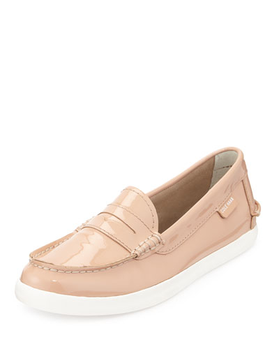 Pinch Patent Leather Loafer, Maple Sugar