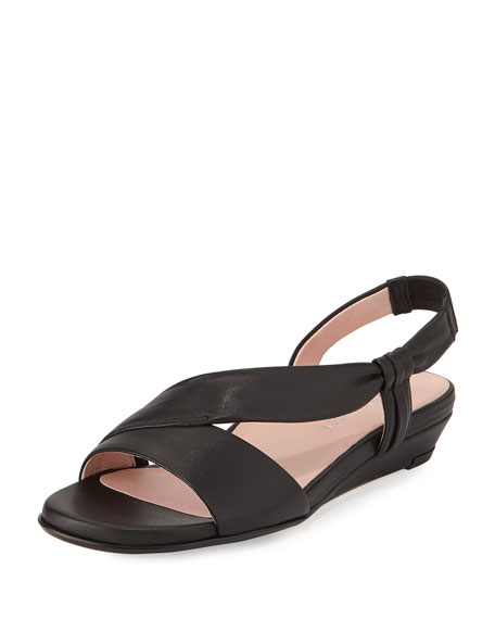 Taryn Rose Ion Demi-Wedge Sandal, Black