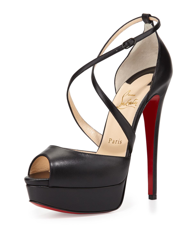 64359d9a0be0 Cross Me Platform Red Sole Sandal
