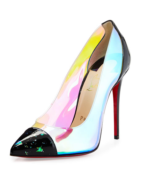 Christian Louboutin Debout Disco PVC Red Sole Pump, Multi