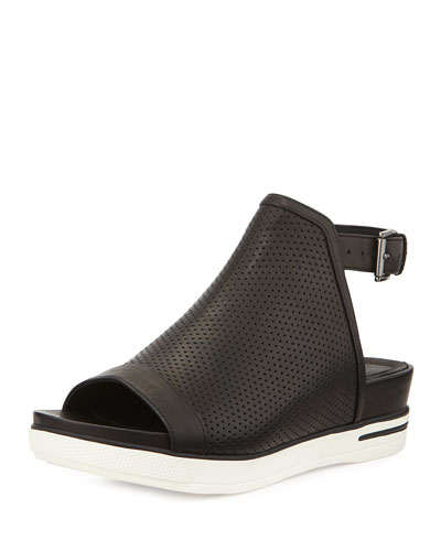 Cover Perforated Sport Sandal, Black