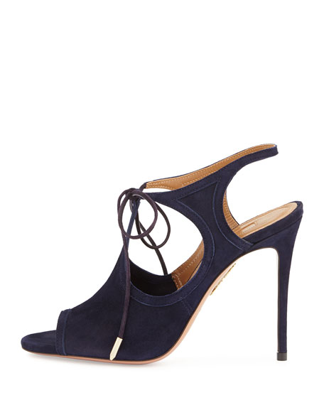Joanna Cutout Wrap-Around Ankle Bootie, Ink