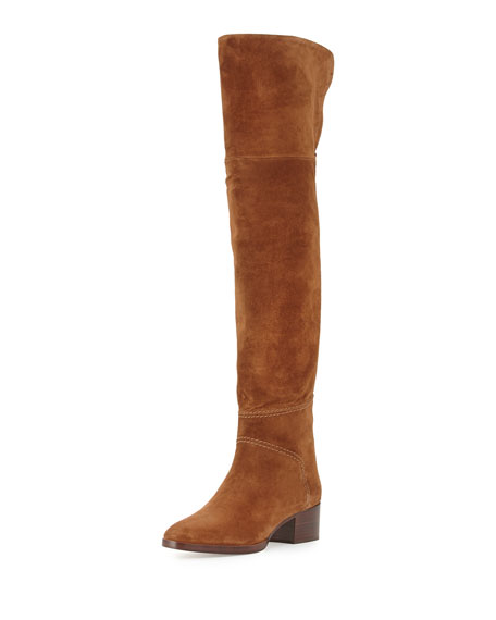 Chloe Suede Over-the-Knee Flat Boot