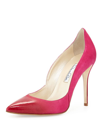 Sabrina Ombre Suede Pump, Shocking Pink