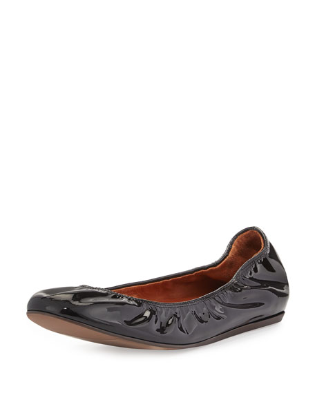 Lanvin Patent Leather Ballet Flat, Black