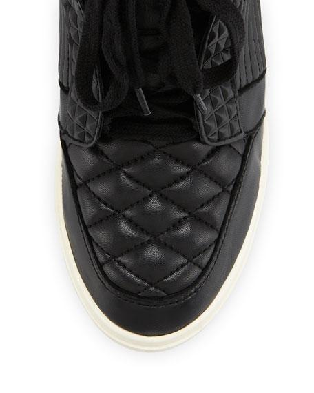 Azimut High-Top Wedge Sneaker, Black