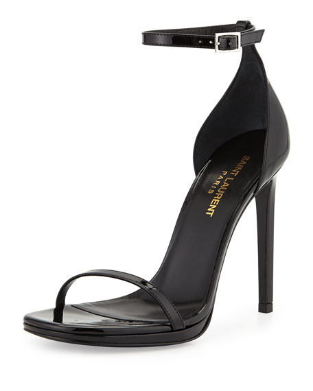 Saint Laurent Jane Patent Sandal, Black