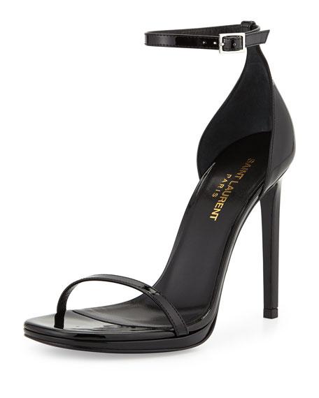 Saint Laurent Jane Patent Sandal, Black