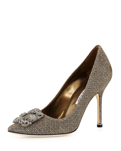 Hangisi Glitter Fabric Pump, Bronze