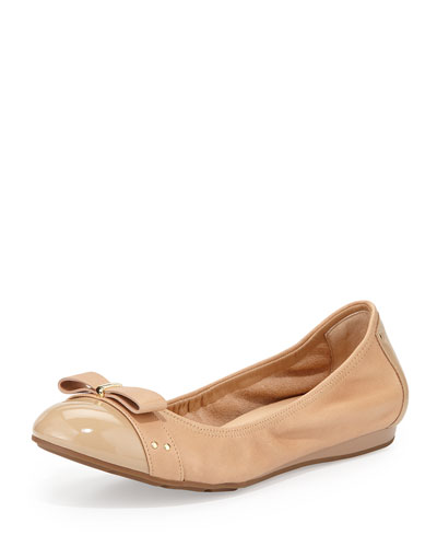 Monica Cap-Toe Ballet Flat, Sandstone