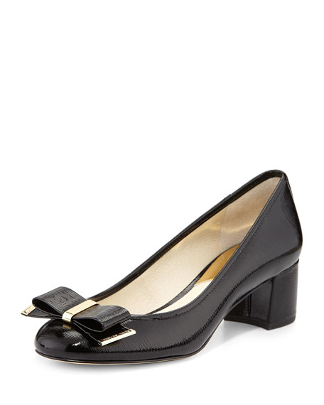 Kiera Patent Bow Pump, Black