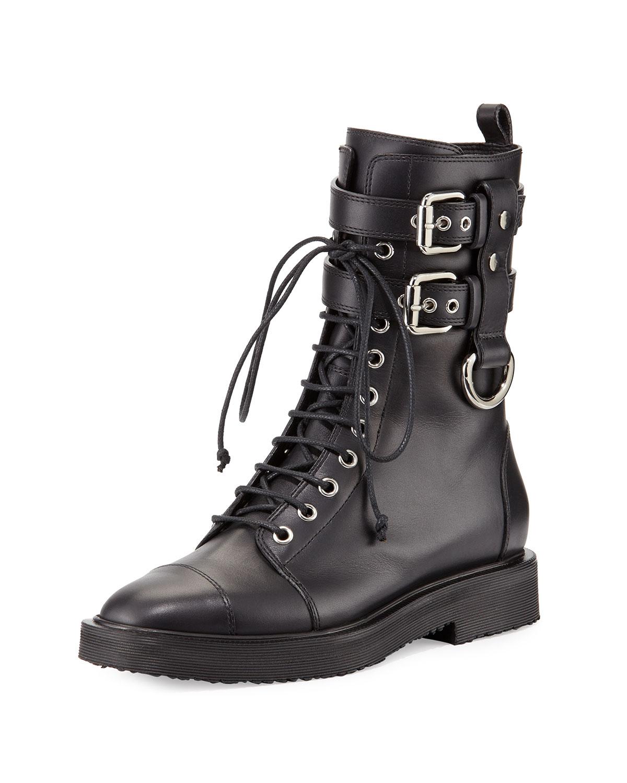 Giuseppe Zanotti Hilary Lace-Up Combat Boot ae154082a953