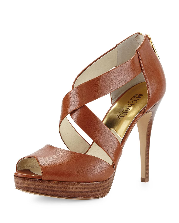 e41b6e12a56 MICHAEL Michael Kors Ariel Platform Crisscross Sandal