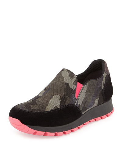 Camo Tech Slip-On Sneaker, Pink