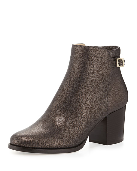 Jimmy Choo Method Metallic Leather Ankle Boot, Mocha