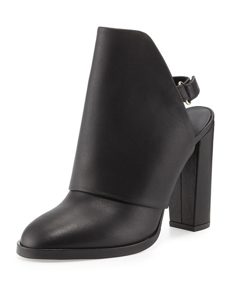 Vince Jody Leather Slingback Mule, Black