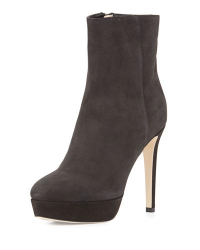 Maggie Velvet Nubuck Boot, Black