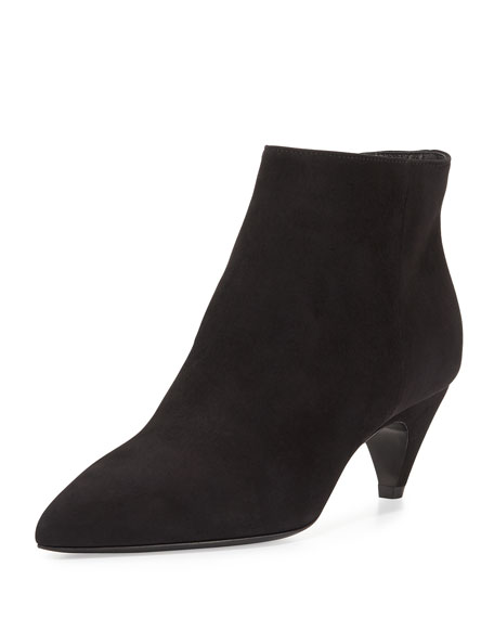 Prada Pointed-Toe Low-Heel Ankle Boot, Nero