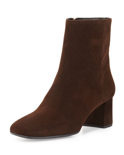 Square-Toe Ankle Boot, Moro