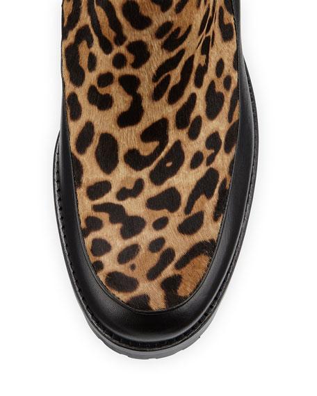 Yetata Calf-Hair Chelsea Boot, Brown