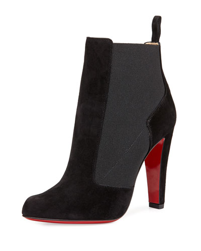 Boulevard Gored Red Sole Bootie, Black