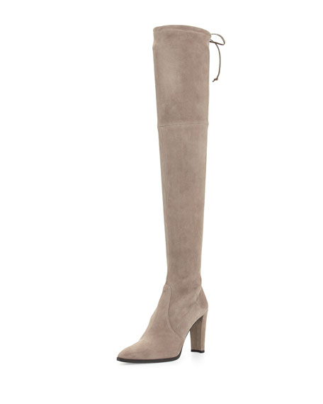 Stuart Weitzman Highstreet Stretch Over-the-Knee Boot, Topo