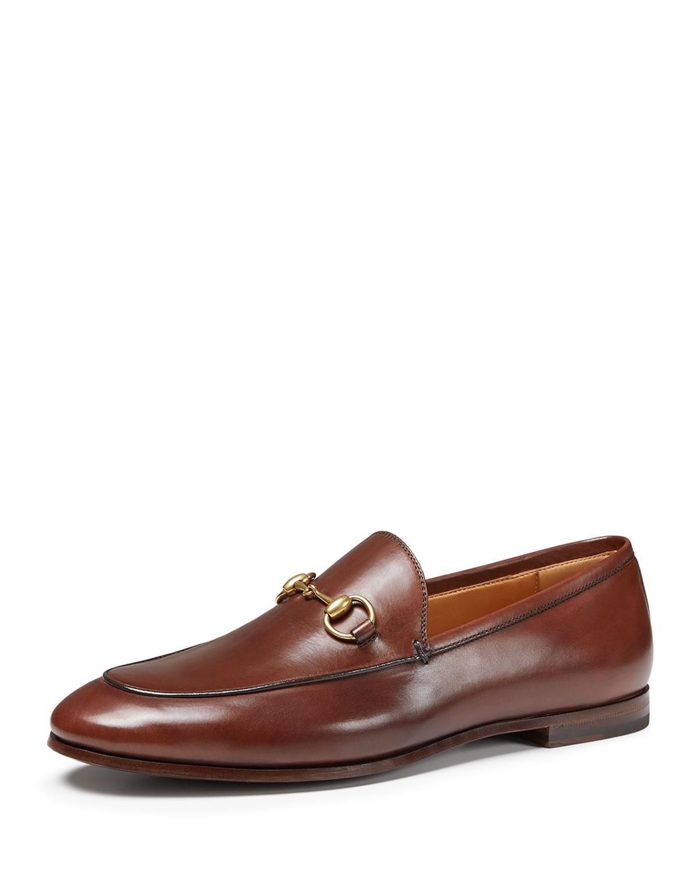 b503fc7b860 Gucci Jordaan Leather Bit Loafer