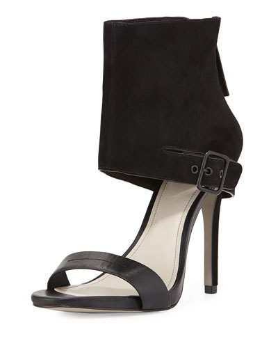 Vicki Ankle-Wrap Sandal, Black