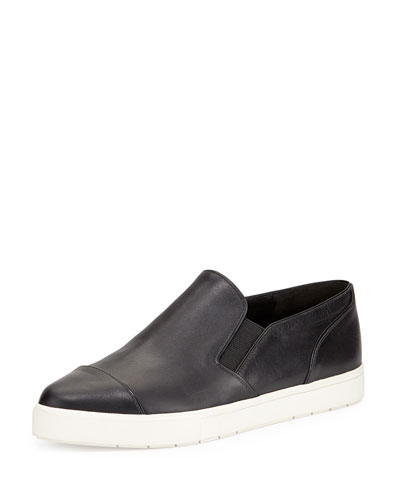 Paeyre Leather Sneaker, Black