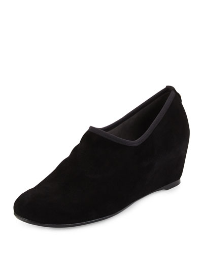 Covering Slip-On Shoe-Bootie, Black