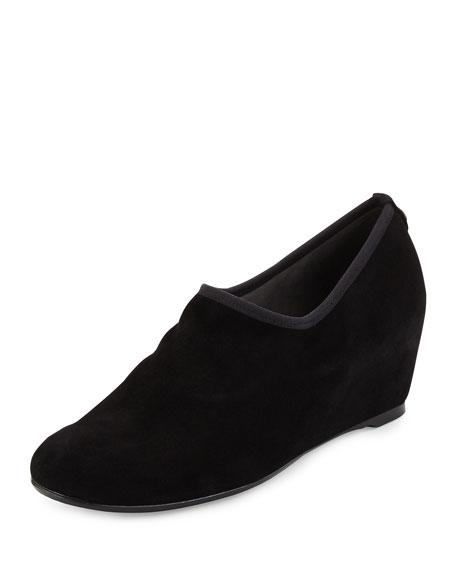 Stuart WeitzmanCovering Slip-On Shoe-Bootie, Black