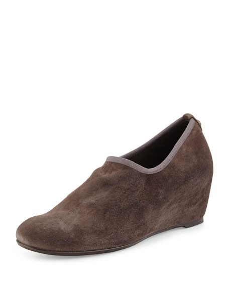 Stuart Weitzman Covering Slip-On Shoe-Bootie, Praline