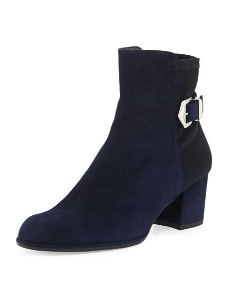 Sidearm Ankle-Buckle Bootie, Nice Blue