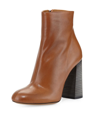 Calf Leather Ankle Boot, Tan