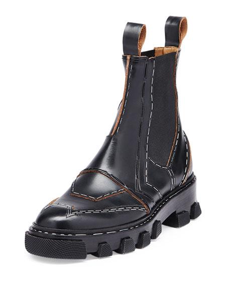 Balenciaga Leather Chelsea Boots qWp01
